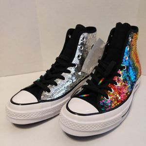 CONVERSE Pride All Star 70 Sequin Rainbow High Top